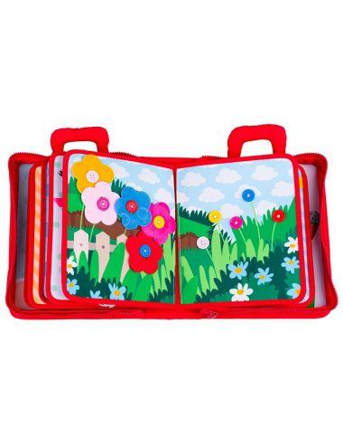 Jolly Baby Zręcznościowa Książeczka Materiałowa PL 80469