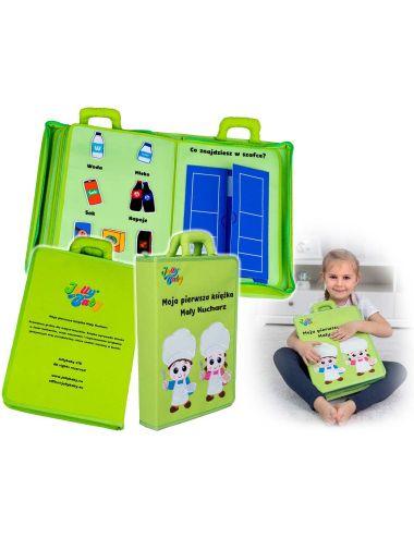 Jolly Baby Moja Pierwsza Książka Mały Kucharz Materiałowa PL 80471