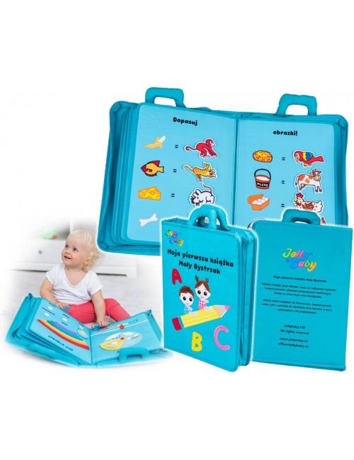 Jolly Baby Moja Pierwsza Książka Mały Bystrzak Materiałowa PL 80472