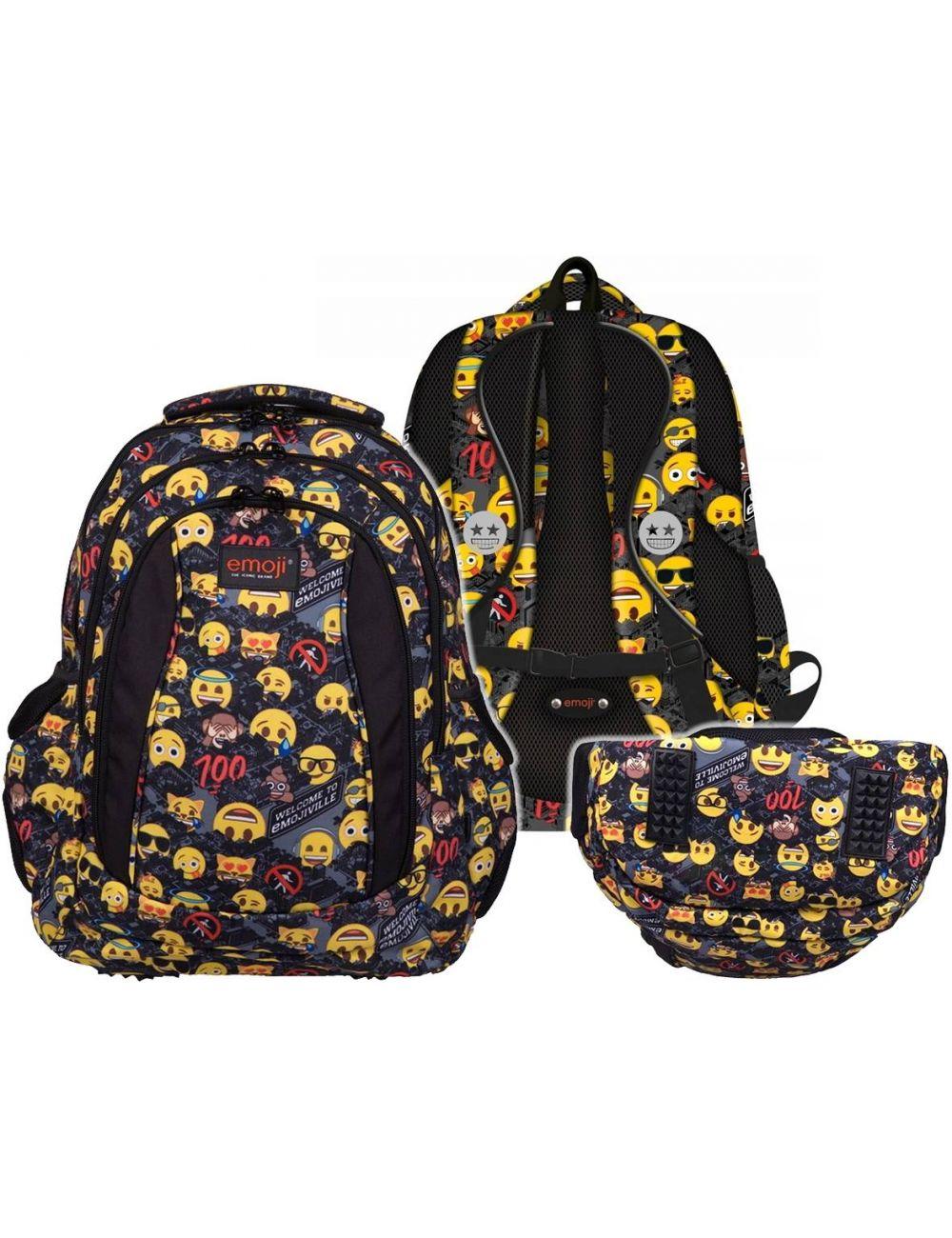 St.Right plecak szkolny Emoji Yellow 4 komory