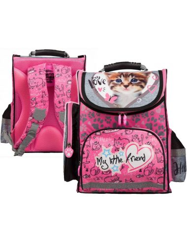 St.Majewski Plecak Szkolny My Little Friend Cat Pink 205040