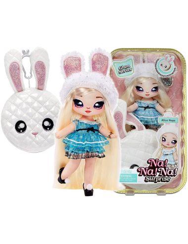 NaNaNa Surprise Glam Laleczka Metaliczny Pom Alice Hops 575368