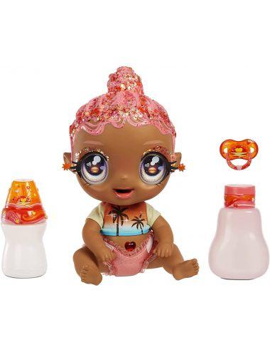 Glitter Babyz Lalka Zmieniająca Kolor Włosów Solana Sunburst 577294