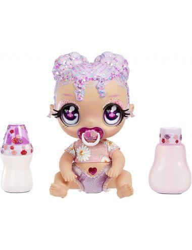 Glitter Babyz Lalka Zmieniająca Kolor Włosów Lila Wildboom 574866
