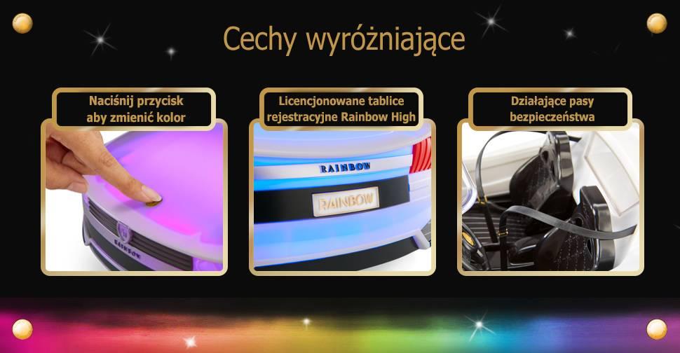 Rainbow High Color Change Car Samochod zmieniajacy kolor 574316