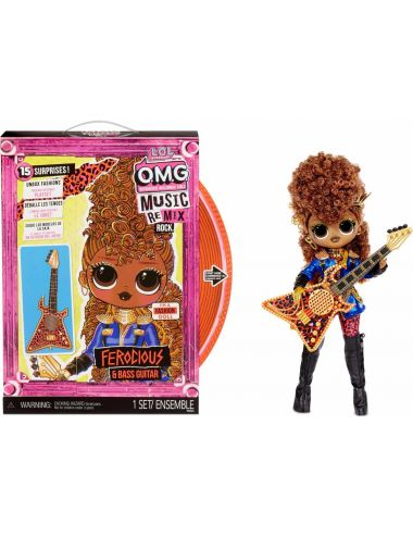LOL Surprise OMG Remix Rock Lalka Ferocious z Gitarą Basową 577591