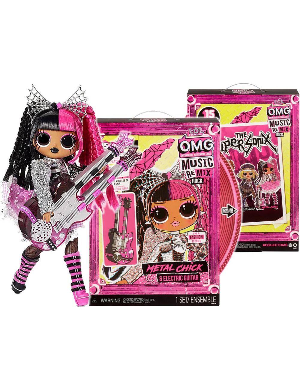 LOL Surprise OMG Remix Rock Lalka Metal Chick z Gitarą Elektryczną 577577