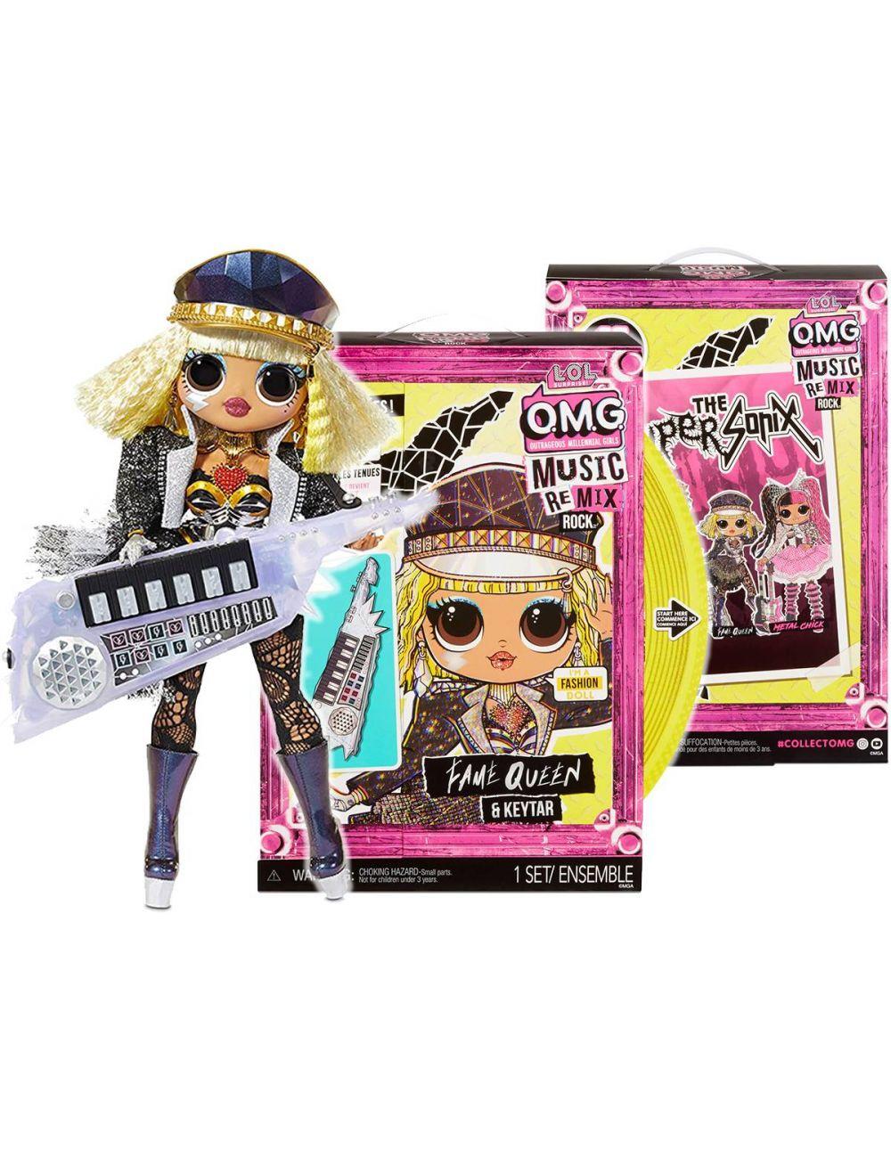 LOL Surprise OMG Remix Rock Lalka Fame Queen z Keytarem 577607