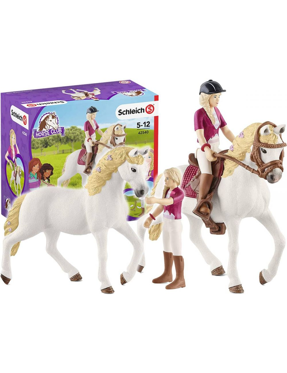 Schleich 42540 Sofia & Blossom Horse Club Jeździec Koń Figurka