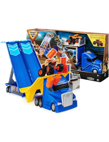 Hot Wheels Monster Jam 2w1 Transporter Auto El Toro Loco 6058258