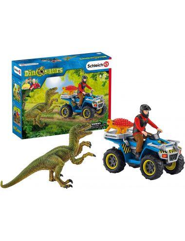 Schleich 41466 Ucieczka Quadem Przed Welociraptorem Dinosaurs