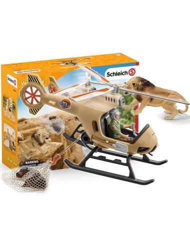 Schleich 42476 Helikopter Ratunkowy Dla Zwierząt Wild Life
