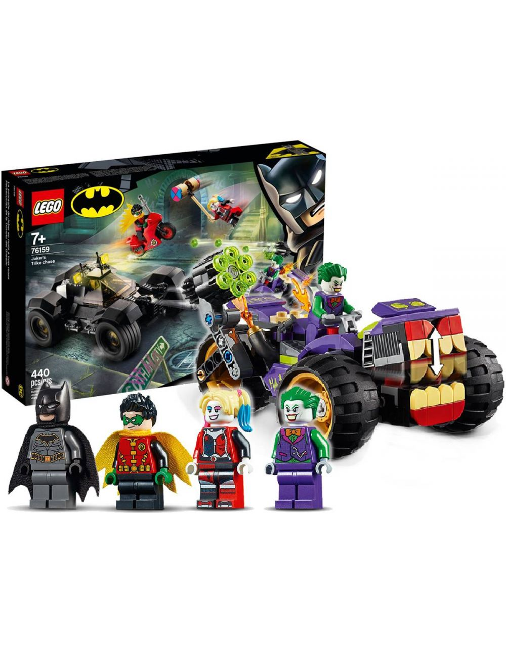 LEGO 76159 DC Batman Trójkołowy Motocykl Jokera Klocki