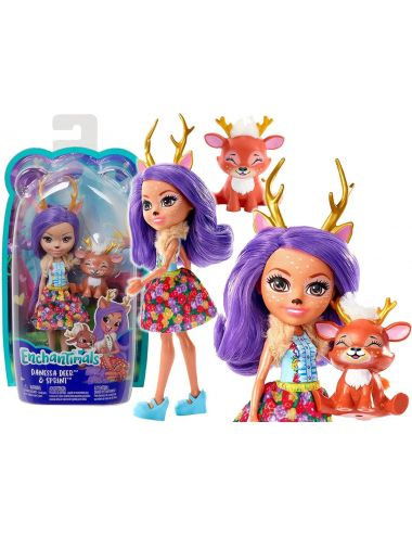 Enchantimals Lalka Danessa Deer Jelonek Zwierzątko Sprint FXM75 Mattel