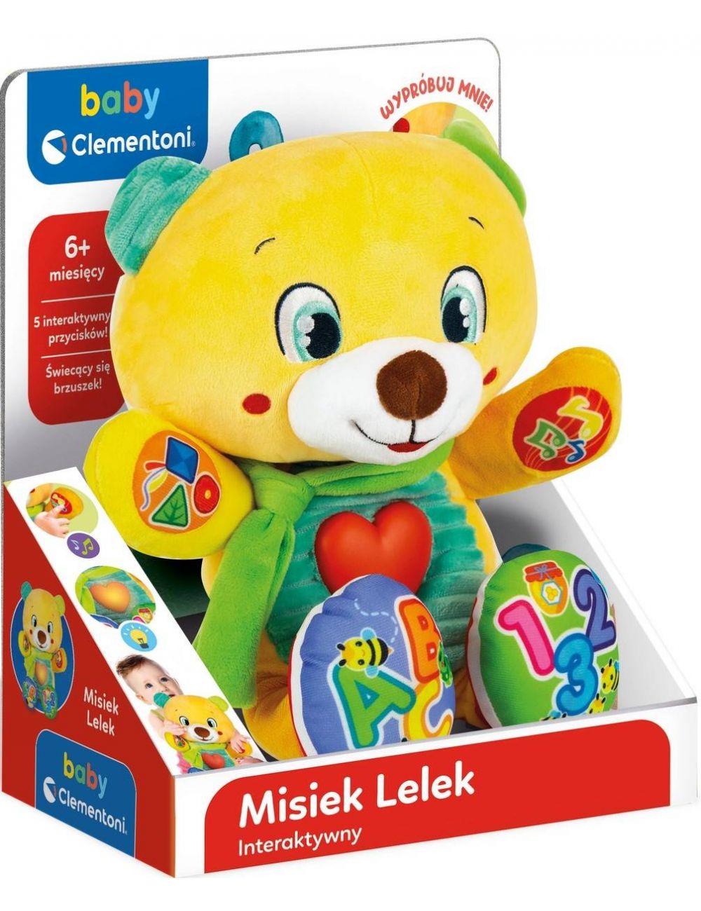 Clementoni Interaktywny Misiek Lelek 2.0 Maskotka Literki Cyferki 50704