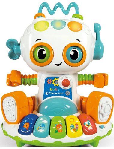 Clementoni Interaktywny Robot Bobo Edukacyjny Śpiewa Mówi Quizy 50703