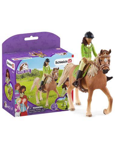 Schleich 42542 Sarah & Mystery Horse Club Figurki