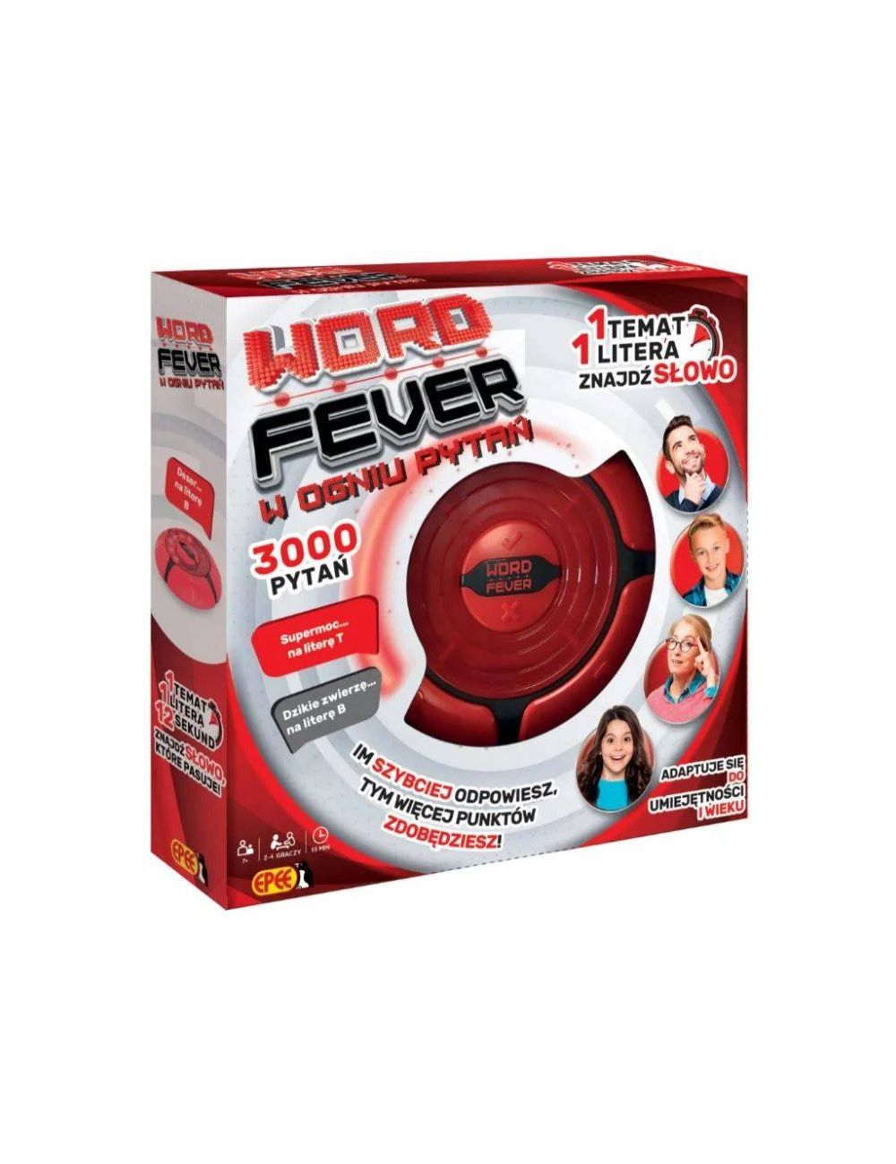 Epee Word Fever w Ogniu Pytań Gra Rodzinna 3000 Pytań 04121