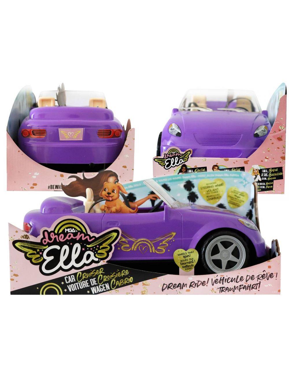 MGA Dream Ella Car Cruise Fioletowy Samochód Dla Lalki 578116