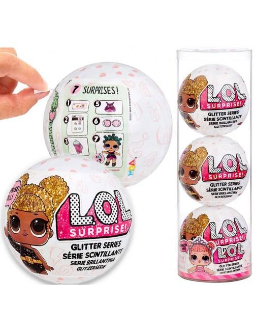 LOL Surprise Glitter Brokatowa Laleczka Styl 2 Reedycja 3-pak 576129