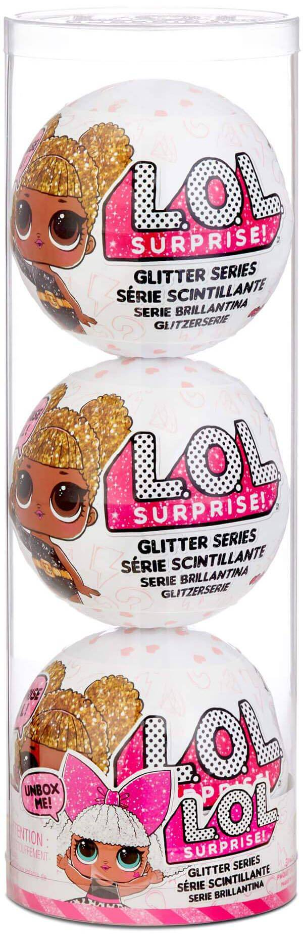 LOL Surprise Glitter Brokatowa Laleczka Styl 4 Reedycja 3-pak 576143