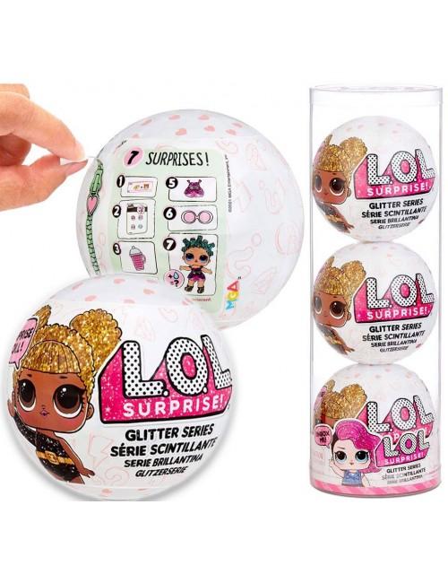 LOL Surprise Glitter Brokatowa Laleczka Styl 3 Reedycja 3-pak 576136