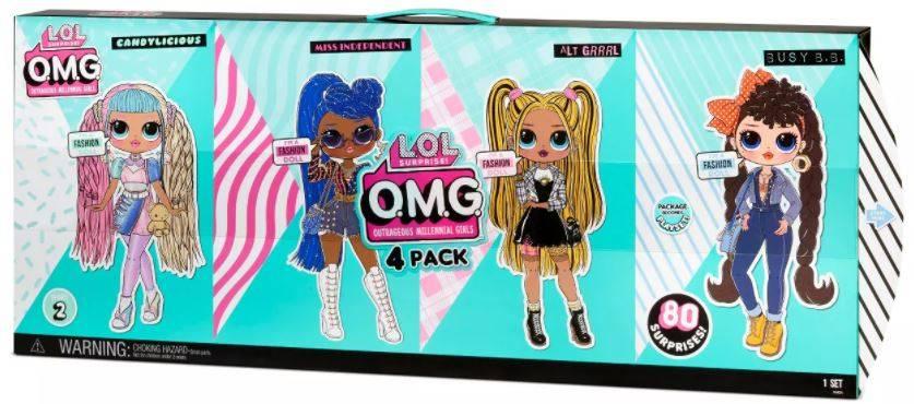 LOL OMG Czteropak Lalek Candylicious Miss Independent Alt Grrrl Busy B.B 4-Pack 423126