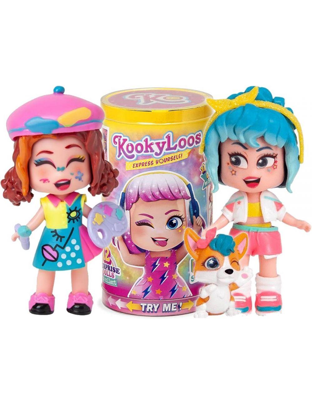 KookyLoos Figurka w Tubie Mini Lalka Niespodzianka Seria BFF