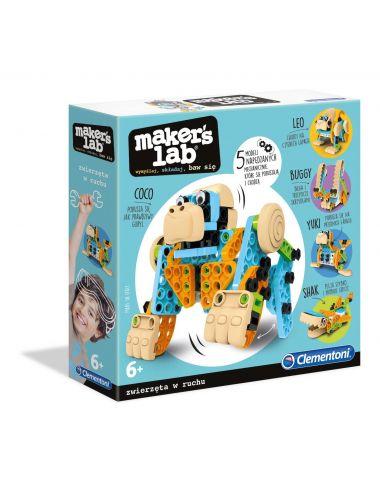 Clementoni Maker's Lab Zabawne Zwierzęta Buduj i Baw Się 50326