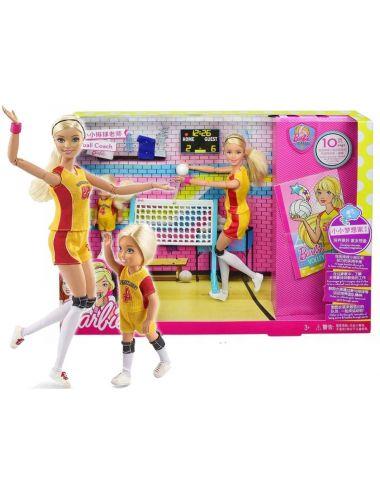 Barbie Lalka Trenerka Siatkówki i Chelsea Siatkarka FRL33 z akcesoriami