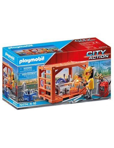 Playmobil 70774 Produkcja Kontenerów City Action