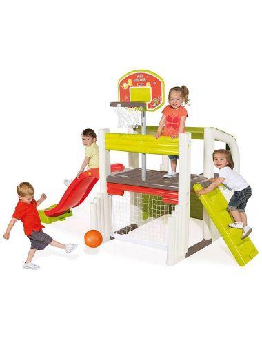 Smoby centrum zabaw domek zjeżdżalnia