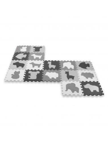 Kidwell Puzzle Piankowe Happy Zoo Duża Mata Układanka
