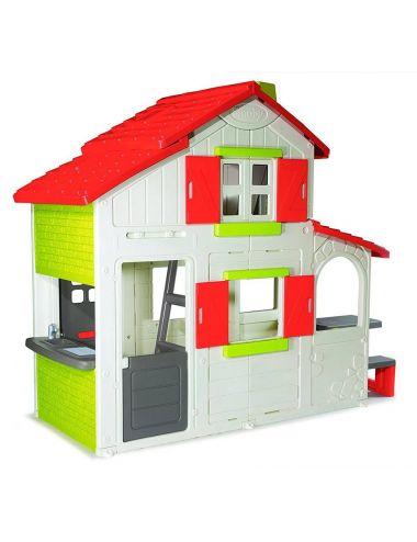 SMOBY Domek dwupiętrowy DUPLEX z dzwonkiem