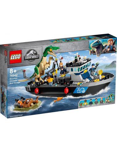LEGO Jurassic World Barionyks i ucieczka łodzią 76942
