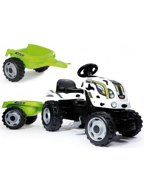 Smoby Traktor farmer XL ciągnik z przyczepą Krówka