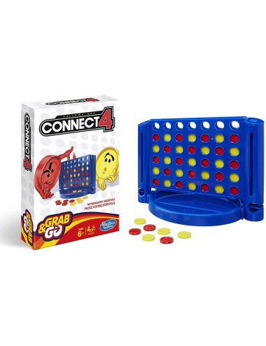 Hasbro Connect 4 Grab N Go Gra Planszowa B1000