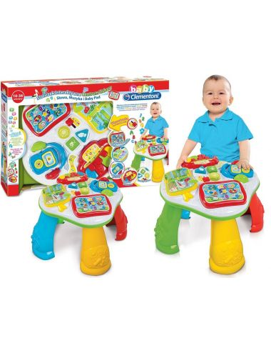Baby Clementoni STOLICZEK EDUKACYJNY Centrum Zabaw Nauka Słów Muzyka